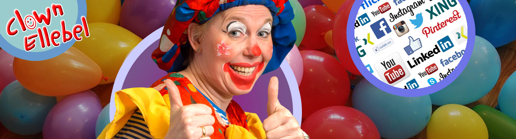 clown ellebel in de media