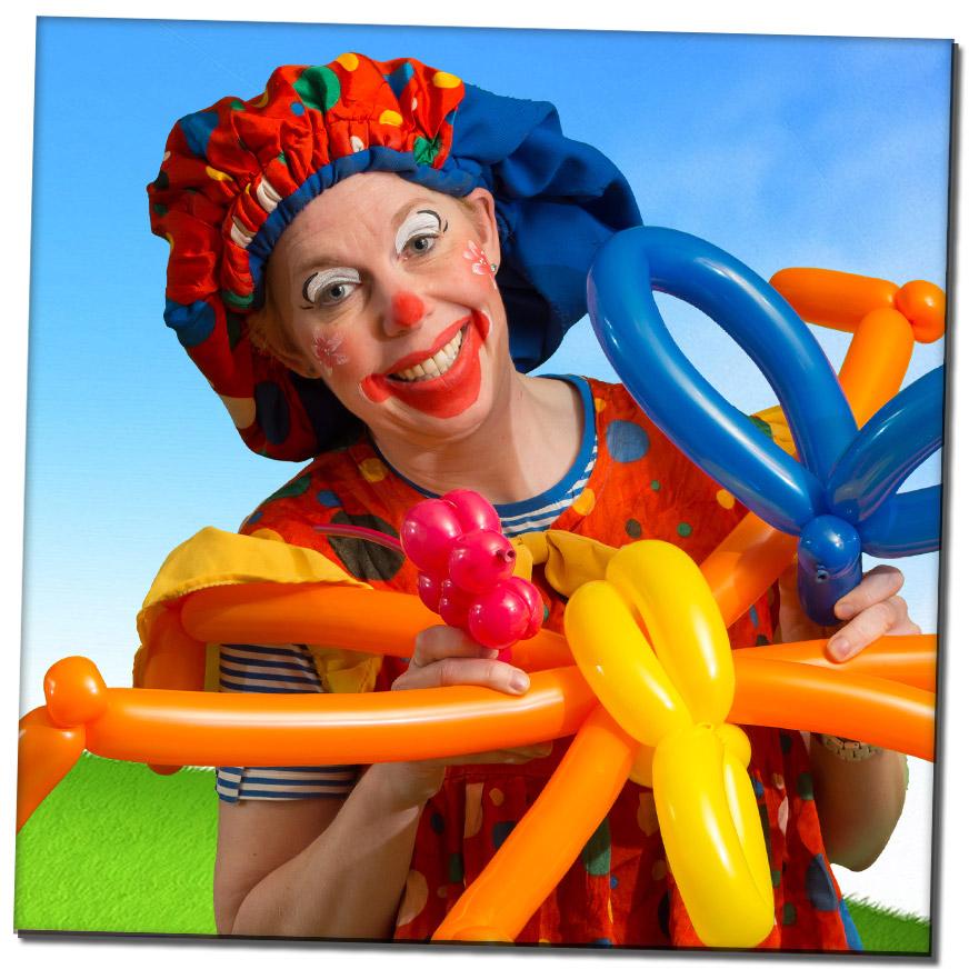ballonfiguurtjes clown huren
